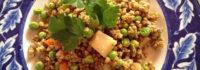 Ricetta: Wok di verdure, grano saraceno e piselli