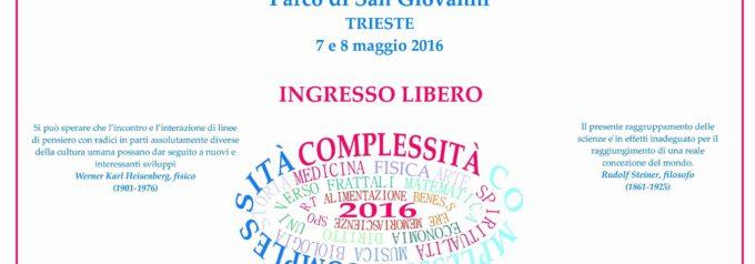 Meravigliosa complessità – Festa della conoscenza – Trieste